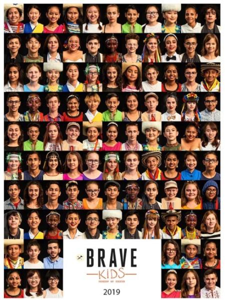 Plakat, edycji Brave Kids, edycji w której nasza grupa wzięła udział !